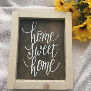 Hand Crafted | Home Sweet Home sign/decor